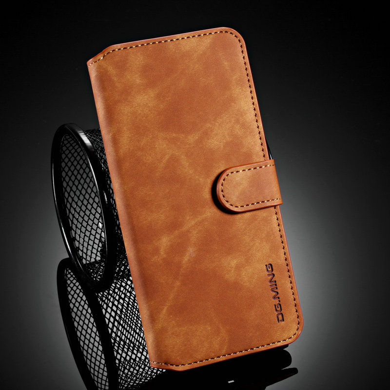 Retro Flip Case for <font><b>Oneplus</b></font> 7T One Plus <font><b>7</b></font> T Leather Case Luxury Solid Phone Cover Funda <font><b>Oneplus</b></font> 7T Case <font><b>Oneplus</b></font> T7 <font><b>7</b></font> Pro Coque image
