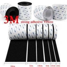Ruban auto-adhésif en nylon solide, 5 mètres/paires, velcro avec colle pour bricolage, 20/25/30/38/50mm