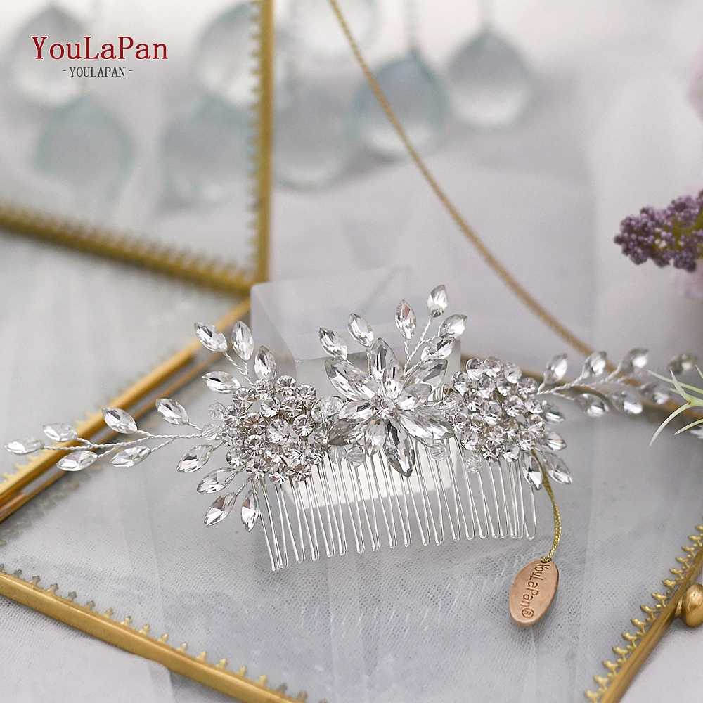 Youlapan結婚式パーティーファッションヘッドドレス花嫁介添人ヘアコームブライダルヘア装飾品ホット販売帽子結婚式のヘアクリップHP77