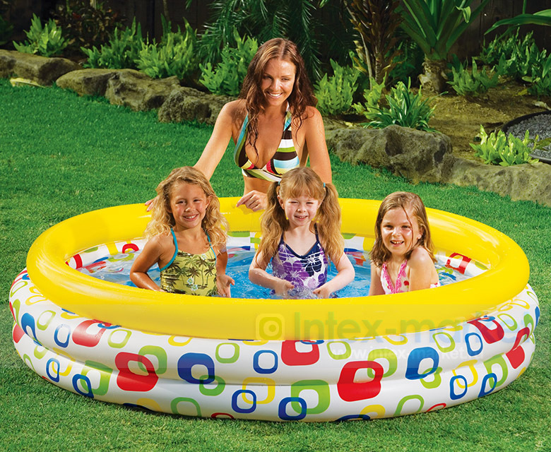 Origional Product Intex58449 Ultra Large Geometry Inflatable Pool Family Swimming Pool Oceans Ball Pool Sandbox