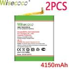 WISECOCO 2PCS 4150mA...