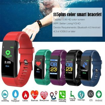 цены New Clock Sports Watch Bluetooth Waterproof Belt Call Message Reminder Heart Rate Fitness Pedometer Men And Women Bracelet Hours