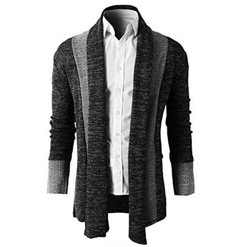 Sweater Men 2020 Brand Clothing Patchwork Cardigan Knitted Pullover Men Slim Fit Plus Size Men's Top Long Sleeve Sweater Coat