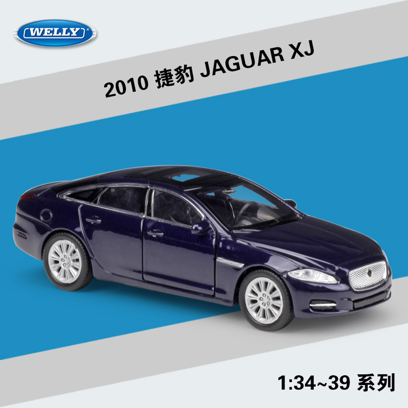 Welly 1:36 Simulation Metal Model Car Toy For 2010 JAGUAR XJ Alloy Car Toy Model With Pull Back Function For Kids Gift With Box