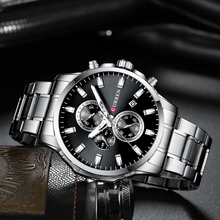 Luxury Mens Watches CURREN New Top Brand Male Clocks Sport Military Clock Stainless Steel Strap Quartz Business Men Watch Gift curren brand design new 2016 sport steel clock quality steel military man male luxury gift wrist quart business army watch 8056