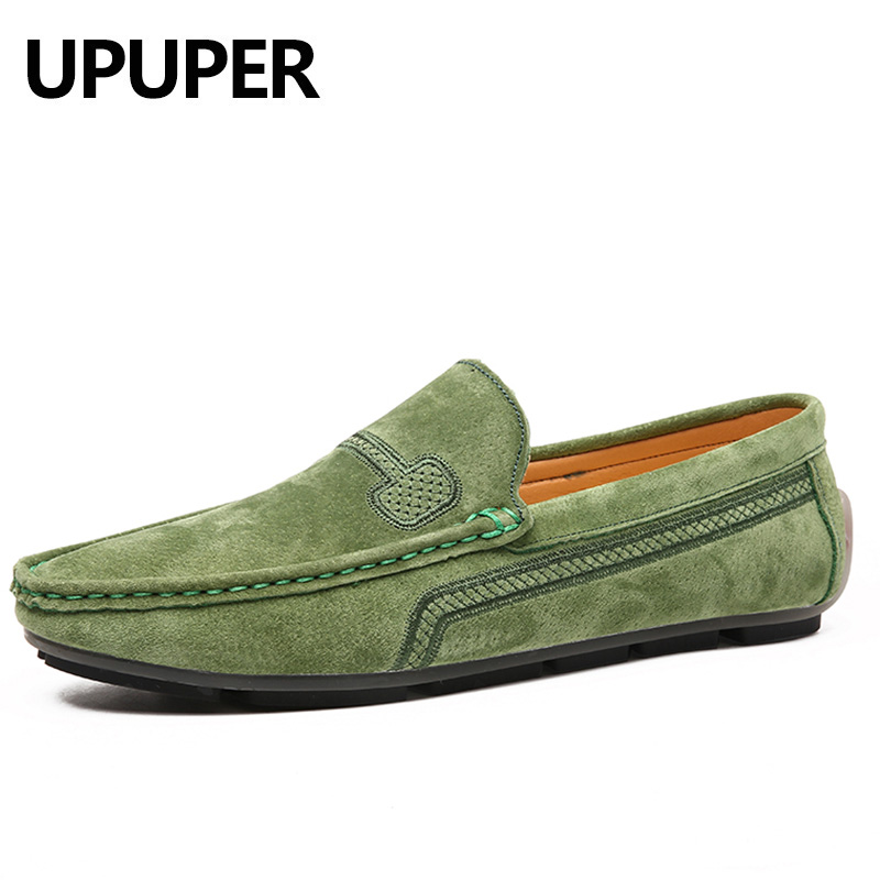 Plus Size 38-48 Genuine Leather Men Loafers Shoes Men Casual Shoes 2020 Spring Comfort Slip-On Moccasins Flat Men Driving Shoes