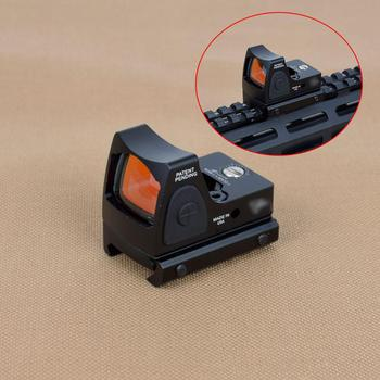 Mini RMR Red Dot Sight Scope Adjustable Collimator Pistol Rifle Reflex Sight Fit 20mm Rail For Hunting Airsoft Optics Sight 1