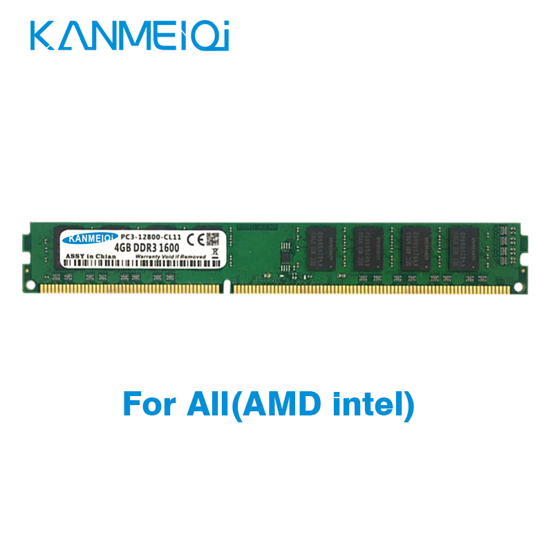 KANMEIQi DDR3 8GB 1333MHz/1600mhz ram 4GB 1866MHz Memory with Heat sink 240pin 1.5v Desktop dimm image