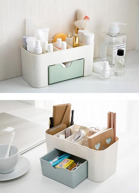 #50 Saving Space Desktop Comestics Makeup Storage Drawer Type Box Organize to save space Makeup Organizer Make Up Storage