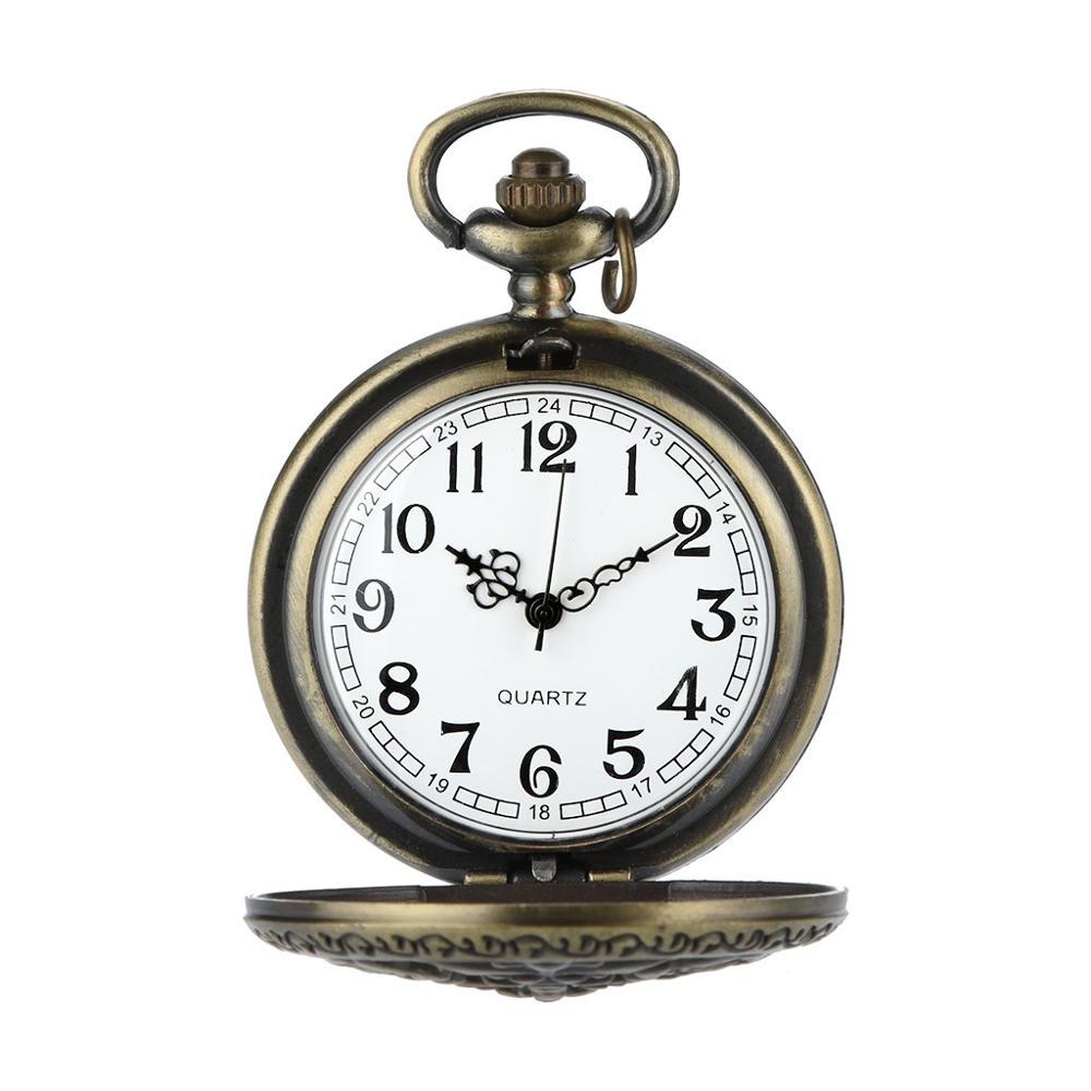 Personalized Pattern Steampunk Vintage Quartz Roman Numerals Pocket Watch Watch Clock Wholesale Relogio De Bolso #4D23