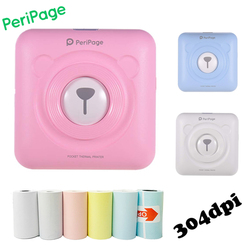 Peripage Pocket Mini impresora portátil Bluetooth 58mm teléfono foto inalámbrica HD impresora de etiquetas térmicas para teléfono Android iOS