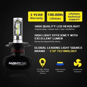 Image 2 - Nighteye Led H4 H7 H8 H9 H11 8000LM 50W 6500K Car LED Headlights White Fog Lamps 9005 HB3 9006 HB4 Fog Light Bulbs
