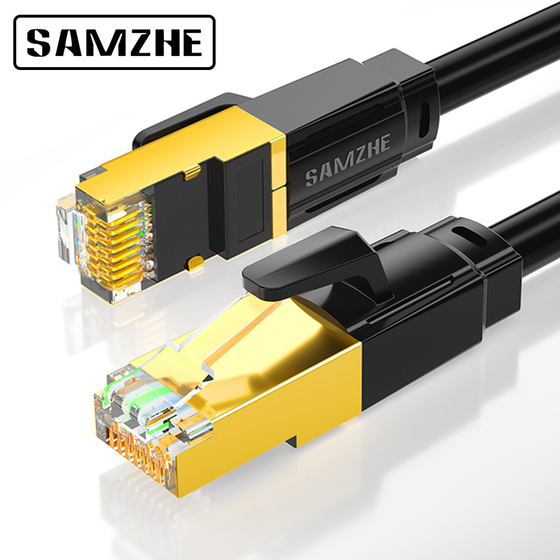 SAMZHE Cat8 SSTP Cable Ethernet Patch Cable For RJ45 Computer,XBox Networking LAN Cords