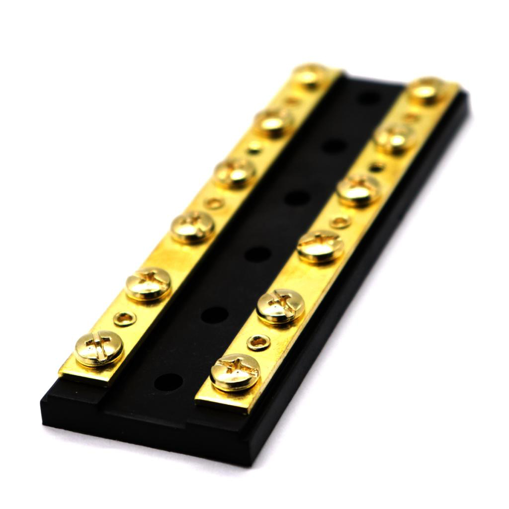Dual Brass Bus Bar DC 32V 60A Positive And Negative Bus Bar For Cars Boats
