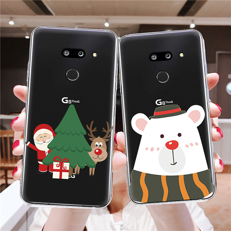 For <font><b>LG</b></font> G4 G5 G6 Q6 Q7 Case Cartoon Merry Christmas Pattern Phone Cover For <font><b>LG</b></font> K4 K8 K10 2017 <font><b>K11</b></font> Plus V20 V30 X Power 2 Fundas image