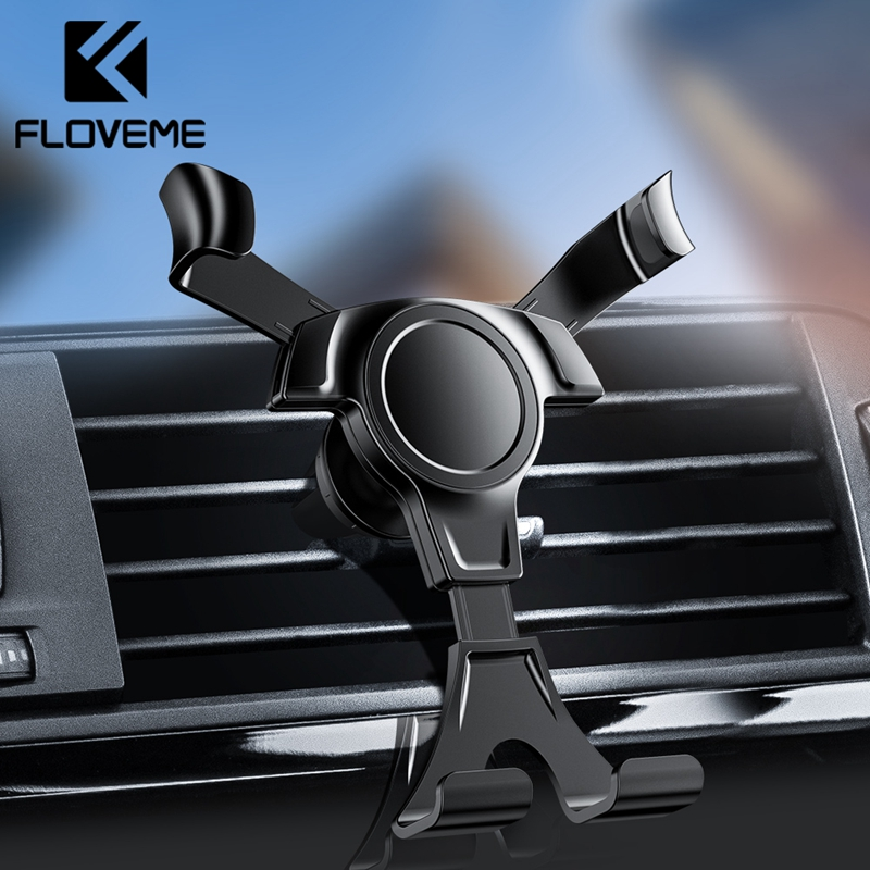 FLOVEME Gravity Car Phone Holder For Phone In Car Mount Stand Mobile Phone Car Holder For iPhone X 7 Support Smartphone Voiture-in Phone Holders & Stands from Cellphones & Telecommunications