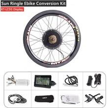 MTB Ebike Hinterrad Conversion Kit mit MTX39 Starke Schweißen Felge KT LCD3 Display Reifen Rohr Freilauf Disc Bremse