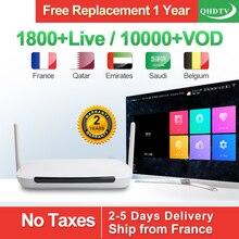 Q9 Arabic IPTV Box Android 8.1 TV Receivers With QHDTV IPTV Subscription IPTV Arabic France Belgium Netherlands Tunisia IP TV