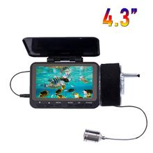 HD 1000TVL Underwater Fish Finder Video Camera for Fishing SYANSPAN 4.3″Monitor 8 Infrared IR LED Fishfinder