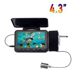 HD 1000TVL submarino buscador de peces cámara de vídeo para pesca SYANSPAN 4,3 Monitor 8 infrarrojo IR LED Fishfinder