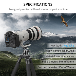 "Image 2 - E40/E34 Low Profileหัวขาตั้งกล้องพร้อม1/4 ""Arca Swiss LและQuick Release PlateสำหรับDSLR Monopodกล้อง"