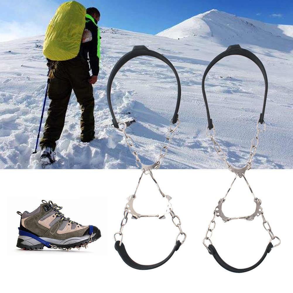 1 пара спортивные цепи открытый Противоскользящие силиконовые 6 зубов зима Crampon походные бутсы ледяной захват обуви шипы снег Скалолазание