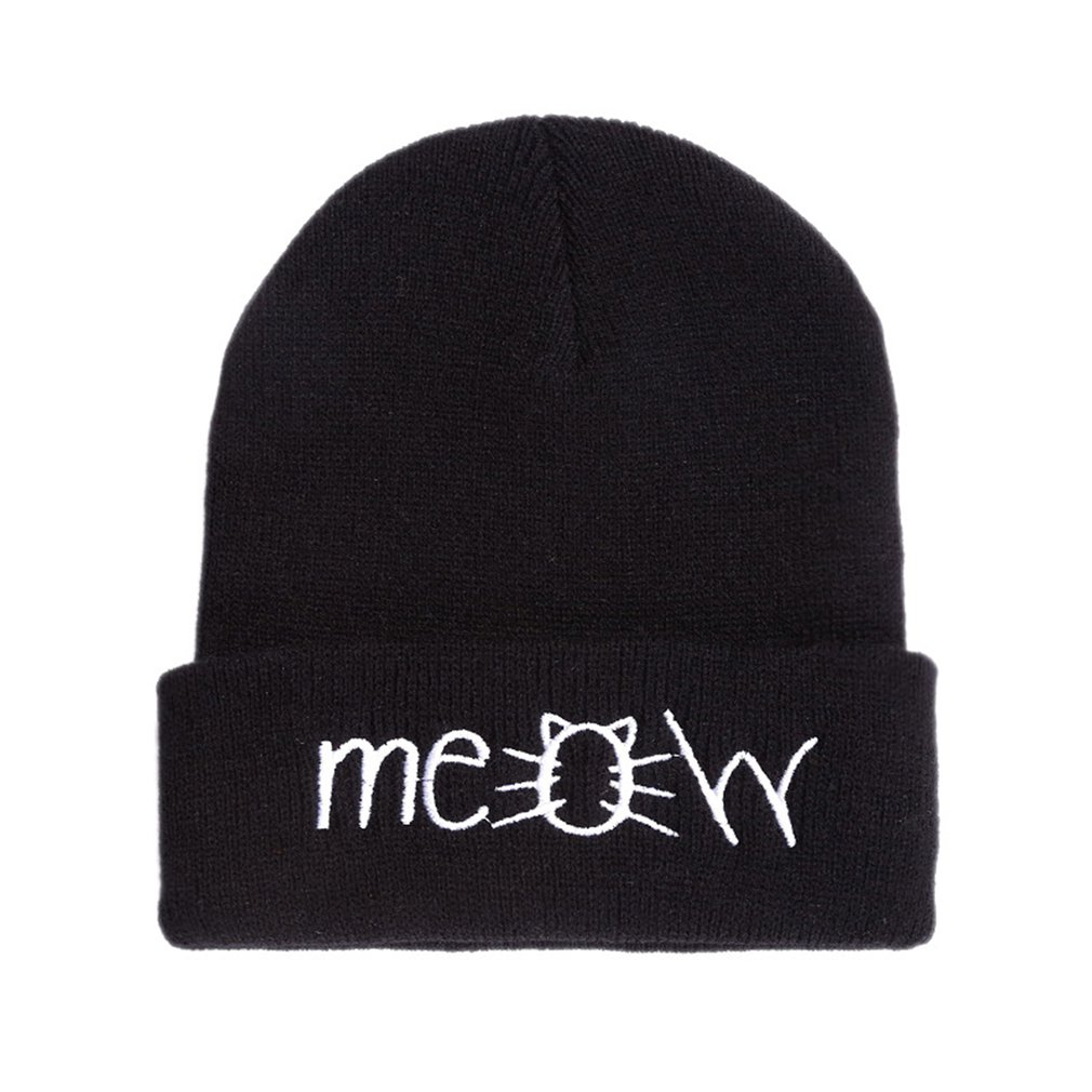 Hiphop Style Fashion Hat Cap Cover Thick Warm Autumn Winter Hat Solid Color Outdoor Travel Cap Knitting Beanie Hats