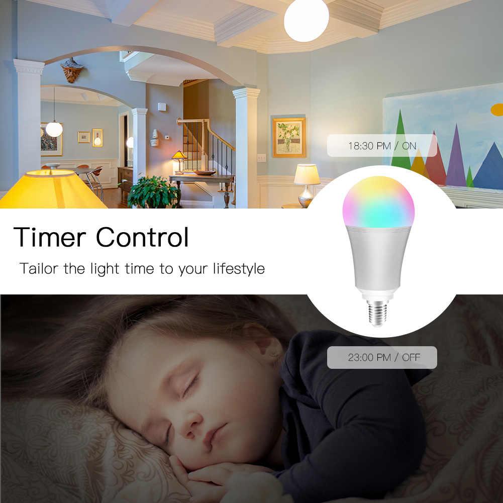 Wifi-патрон, умный свет лампы умная цветная светодиодная лампа 7 Вт RGBW приложение дистанционное управление работает с Alexa Google для умного дома E14