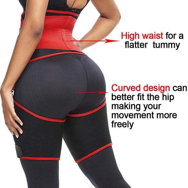 Hot Sauna Waist Trainer Belt Double Compression Body Shaper Sweat Neoprene Tummy Control Thigh Trimmer for Lose Weight Corset 2