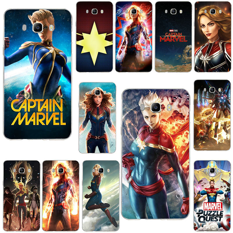 Soft TPU Phone Cases For <font><b>Samsung</b></font> Galaxy J1 Mini <font><b>J2</b></font> J3 J4 J5 J6 J7 J8 2016 2017 2018 Prime Cover Cases Captain Marvel Movie <font><b>2019</b></font> image