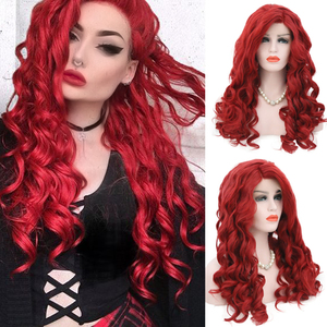 Charisma Red Wig Long Body Wave Synthetic Lace Front Wig For Women Natural Hairline Heat Resistant Hair Lace Wigs Cosplay Wig