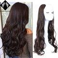 Волнистый прямой U-образный полупарик для женщин, натуральные женские короткие черные коричневые парики, термостойкие синтетические искус...