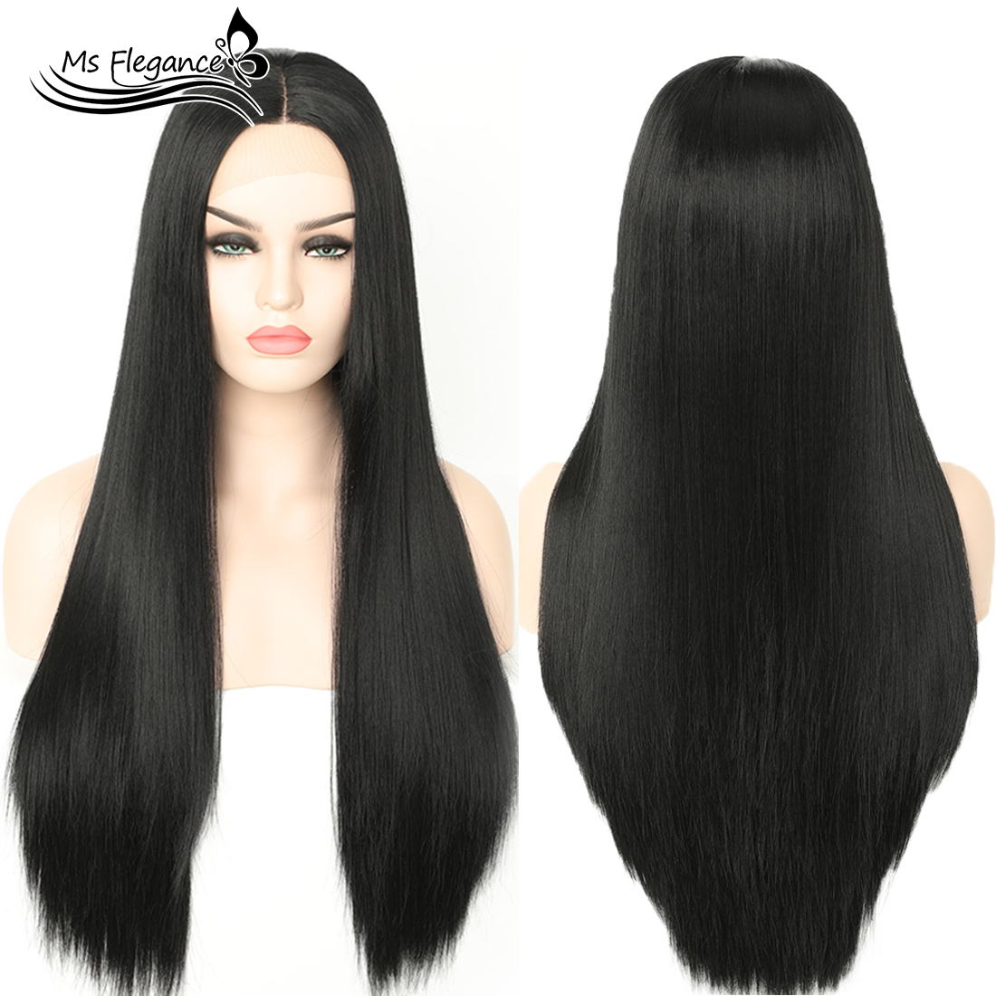 extensão do cabelo preto peruca de renda natural incluem peruca boné