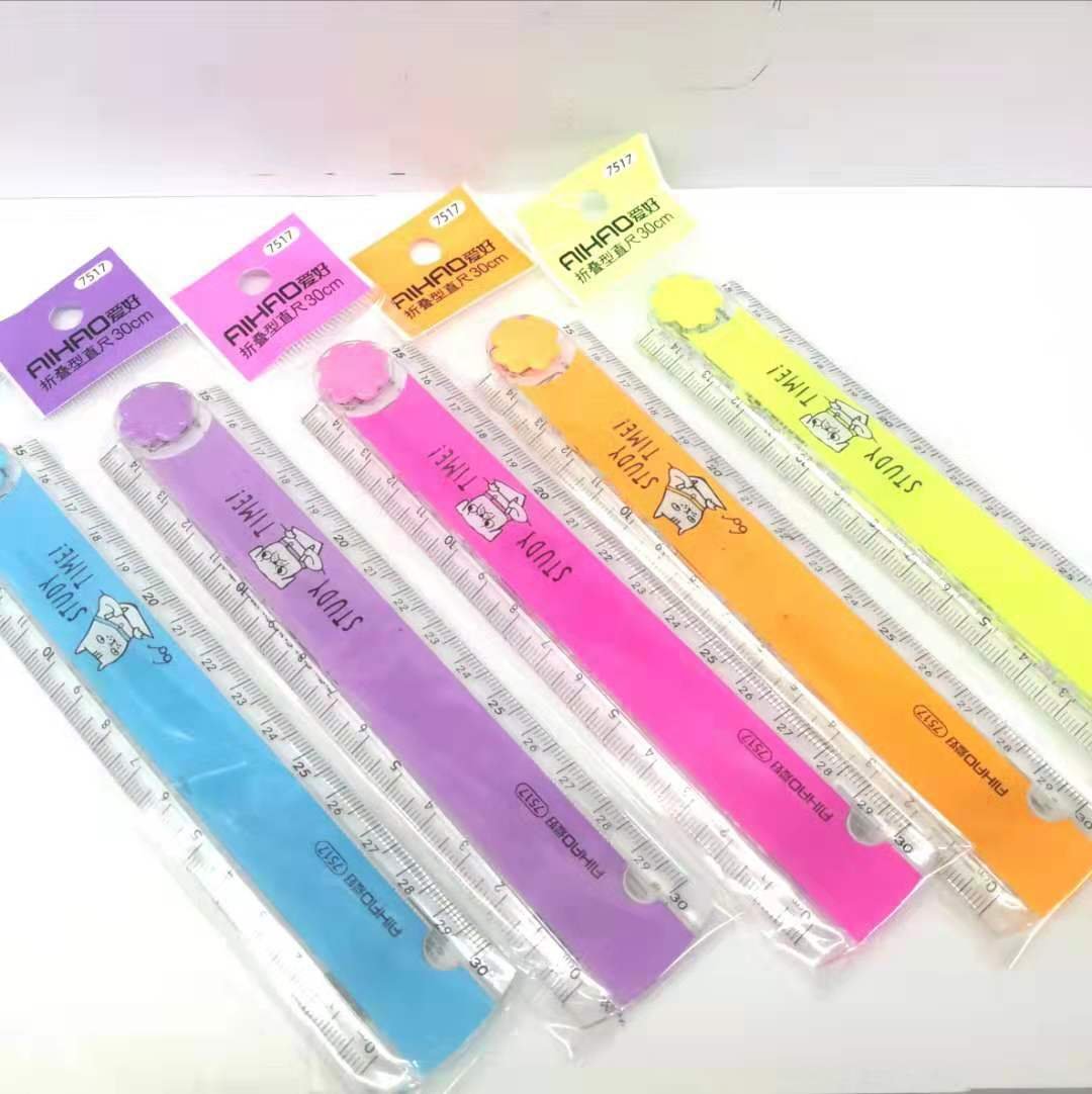 30cm Cute Kawaii Candy Folding Plastic Ruler For Kids Student Creative Product Gift Office School Supplier 114