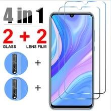 Защитное стекло 4 в 1 для Huawei Y6P, Y8P, Y7, Y9 2019, Y5P, Y7P, Y9S, Y6S, защита экрана камеры для Huawei P30 Lite, P40 Pro, стекло