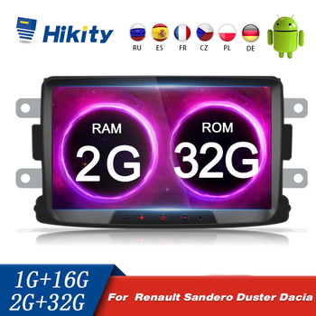 Hikity 2 Din Car Multimedia MP5 Player Android 2+32GB Autoradio 8 Inch Wifi Car Stereo For Renault Sandero/Duster/Logan/Dokker image