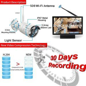 Image 5 - Oossxx 8ch sistema de câmera de segurança sem fio 1080p nvr 4pcs 2mp gravação áudio hd cctv ao ar livre sem fio câmera ip vigilância vídeo