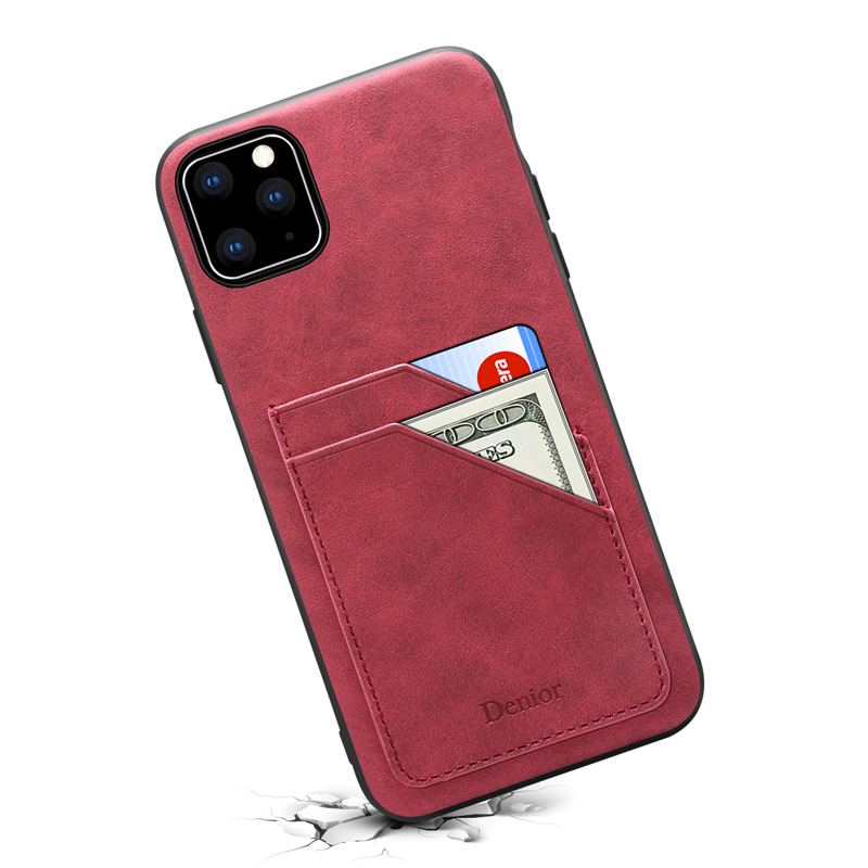Double Card Leather Case for iPhone 11/11 Pro/11 Pro Max 13