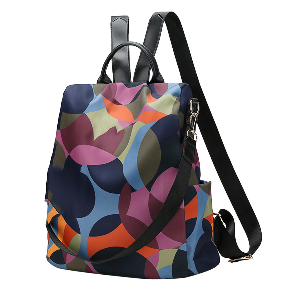 Cool Retro Multi-Functional Backpack Large Capacity Nylon Backpack Women Travel Shopping AIC88