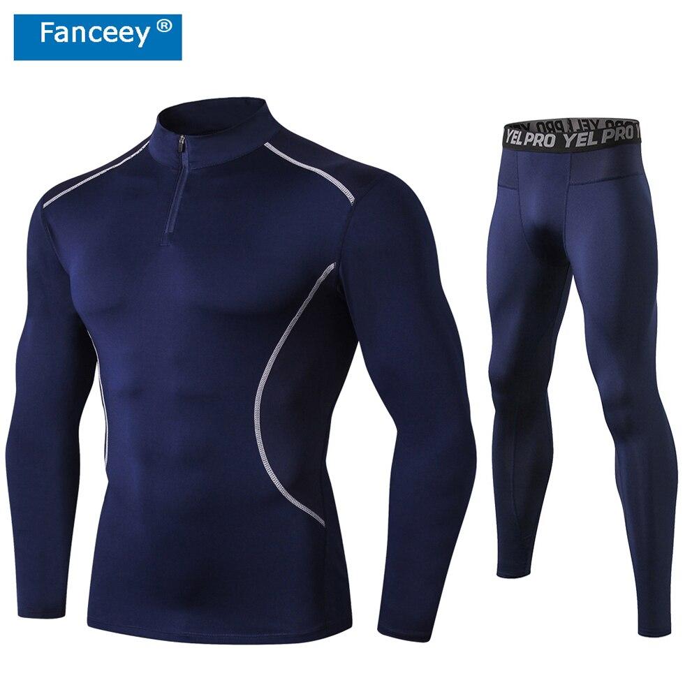 Fanceey, анти микробное зимнее термобелье, термобелье для мужчин, кальсоны, термобелье, Рашгард, комплект, длинное компрессионное нижнее белье