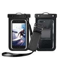 Стиль плавательный погружной рычаг сумка водонепроницаемый чехол для телефона Открытый водонепроницаемый мобильный телефон сумка может быть поколение жира