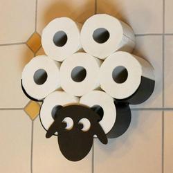 Декоративный держатель для туалетной бумаги в виде овцы, настенное крепление, железное хранилище для ванной комнаты, самостоятельные украш...