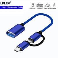 2 en 1 USB 3,0 OTG Cable adaptador tipo-C adaptador de sincronización de datos Micro USB para Samsung Xiaomi Redmi Mi Huawei MacBook U disco tipo-C accesorios del teléfono móvil טלפון נייד אבזרים