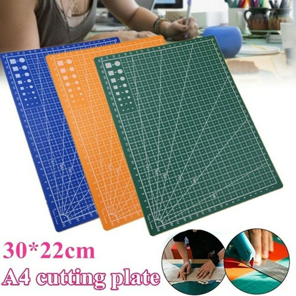 A4 Double Sided Cutting Mat Durable Pad Patchwork Tool Handmade Plate Dark School Supplies 22x30cm Grid Lines Board
