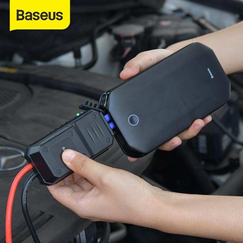 BASEUS Car Jump Starter Power Bank Portable 12V 800A Kendaraan Darurat Baterai Booster untuk 4.0L Mobil Power Starter