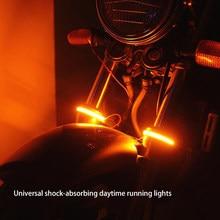 1 шт., Универсальный мотоциклетный светильник светодиодный с указателем поворота, вилкой, указателем поворота