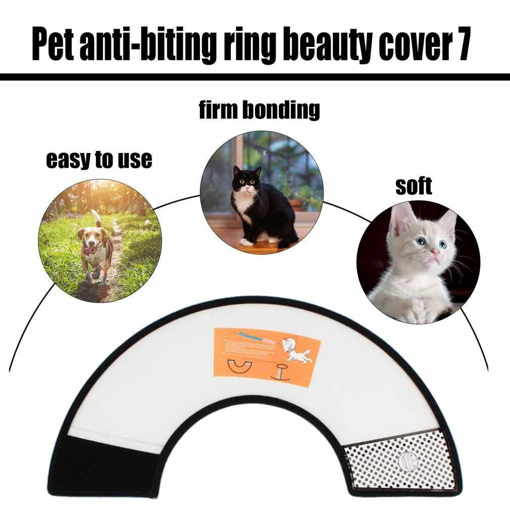 Cubierta de la cabeza del perro de la mascota cuellos Anti-mordida protección para prevenir el cuello de la mordedura del perro cubierta protectora de la preparación del animal doméstico