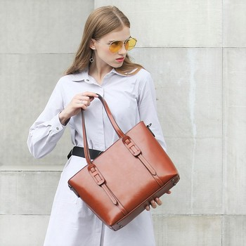Quality leather cross body bags for women great capacity tote bag fashion women hand bag elegant shoulder bag messenger bags new