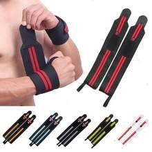 1 pçs fitness acolchoado pulso polegar cinta força levantamento de peso mão envoltório suporte ginásio barra de treinamento pulseira