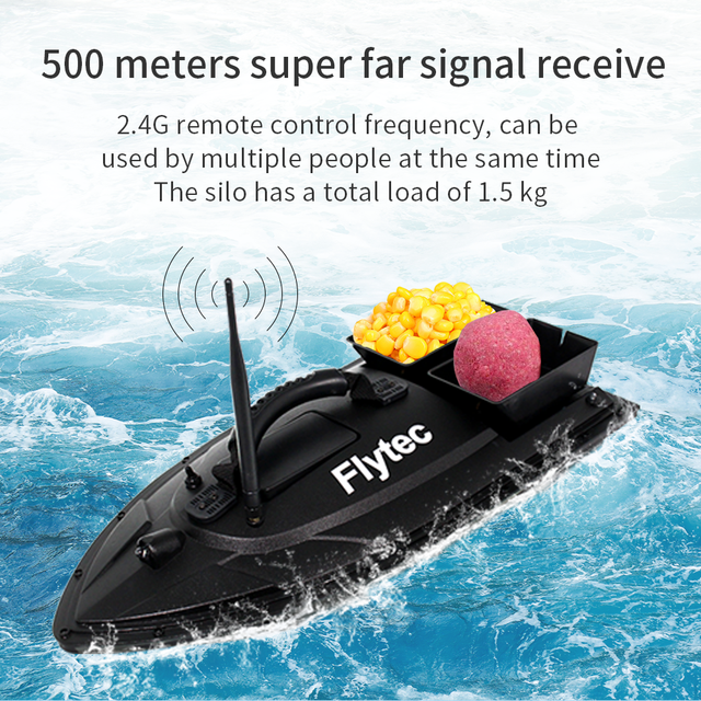 Flytec 2011-5 1.5kg Fish Boat RC Boat Fish Finder Professional Fisch Boat Fishing Bait Boat Remote Control Speedboat Toy 5.4km/h 5
